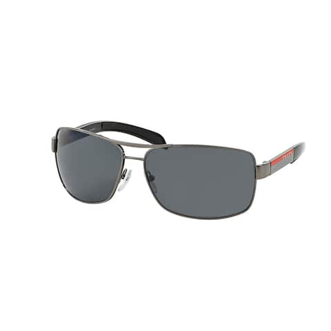Prada Linea Rossa PS 54IS 5AV5Z1 65 Gunmetal Man Rectangle Sunglasses