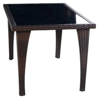 Costway Brown Patio Furniture Outdoor Garden Dining Rattan Wicker Coffee Table