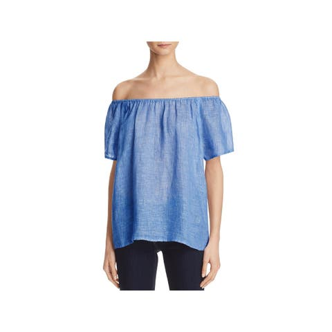 Joie Womens Amesti B Pullover Top Linen Sheer