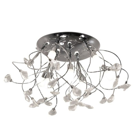 """Bazz Lighting C13509 Glam 9 Light 19-3/4"""" Wide Semi-Flush Ceiling Fixture with C"""