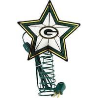 Green Bay Packers Art Glass Tree Topper