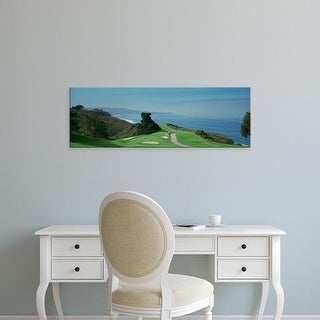 Easy Art Prints Panoramic Image 'Golf course at the coast, Torrey Pines Golf Course, San Diego, California' Canvas Art