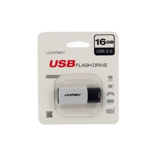 Unirex USFP-216 16GB USB 2.0 Flash Drive - WHITE