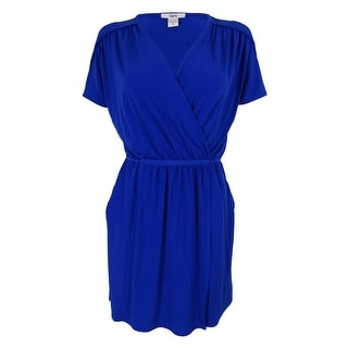 Bar III Women's Short Sleeve Tie Waist Dress - m