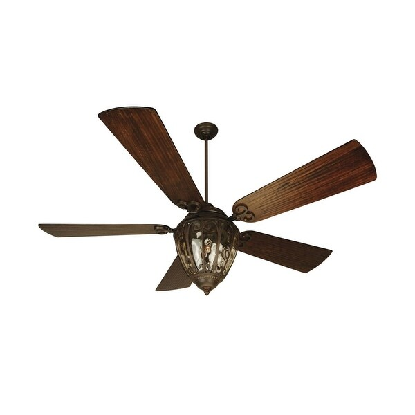 """Craftmade K10337 Olivier 70"""" 5 Blade DC Indoor Ceiling Fan - Blades, Remote and Light Kit Included - Aged Bronze - n/a"""