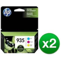 HP 935 Multi Color Original 3 Ink Cartridge (N9H935FN)(2-Pack)