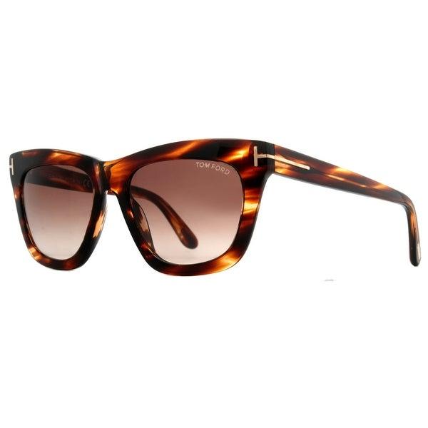 Tom Ford Celina TF361 50F Dark Havana/Brown Gradient Women's Square Sunglasses - dark havana brown - 55mm-18mm-140mm