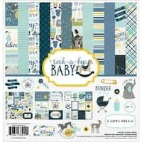 """Rock-A-Bye Baby Boy - Carta Bella Collection Kit 12""""X12"""""""