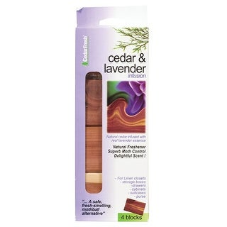 "Household Essentials 30271 Cedar with Lavender Blocks, 2-3/4""L x 2""W x 3/4""D"