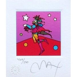 "Star Catcher, Ltd Ed Lithograph (Mini 3.5"" x 3""), Peter Max"