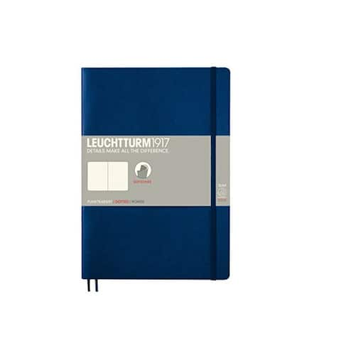 LEUCHTTURM1917 - Composition B5 Dotted Softcover Notebook (Navy) - 123