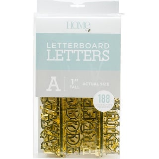 """Dcwv Letterboard Letters & Characters 1"""" 188/Pkg-Gold"""