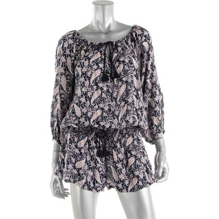 Denim & Supply Ralph Lauren Womens Paisley Scoop Romper - M