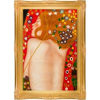 Gustav Klimt 'Sea Serpents IV' (modest) Hand Painted Oil Reproduction