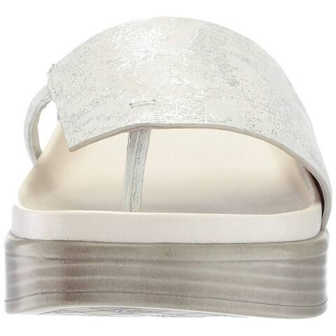 a3ab29f52902 Donald J Pliner Womens FIfi Leather Split Toe Casual Slide Sandals