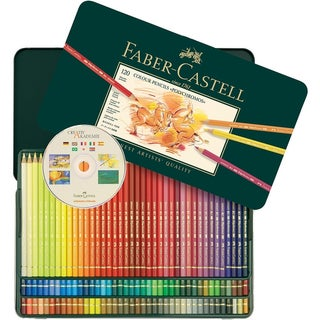 shop polychromos colored pencil set in metal tin 120pc free