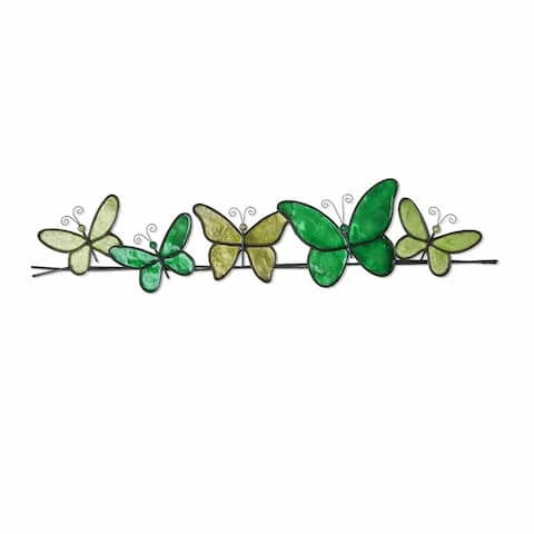 Butterflies On a Wire Hand-painted Wall Decor