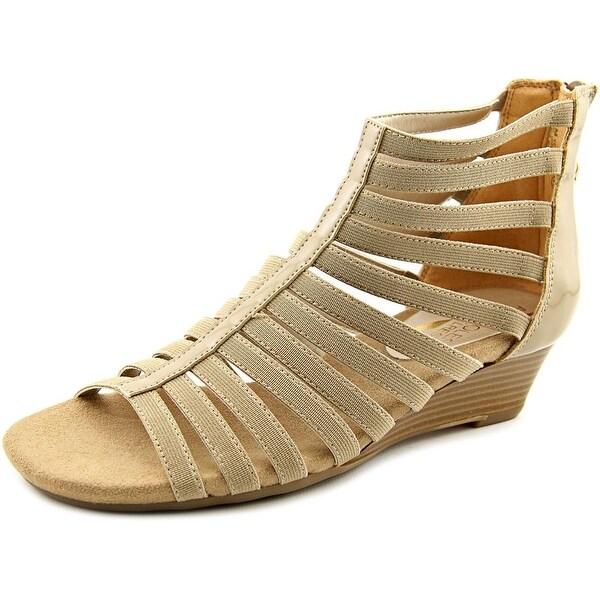 Aerosoles Yet Plane Women W Open Toe Canvas Nude Gladiator Sandal