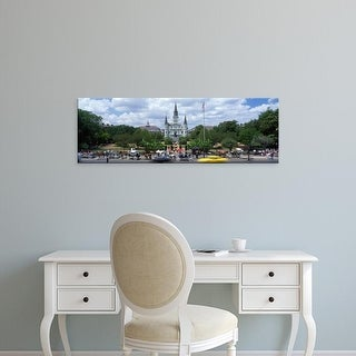 Easy Art Prints Panoramic Image 'St. Louis Cathedral, Jackson Square, French Quarter, New Orleans,Louisiana' Canvas Art