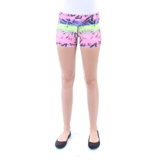 MATERIAL GIRL New 1074 Green Pink Ombre Cropped Active Short Juniors 2XS B+B