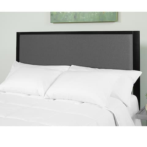 Hartley Modern Dark Grey Fabric Upholstered Twin Size Metal Headboard