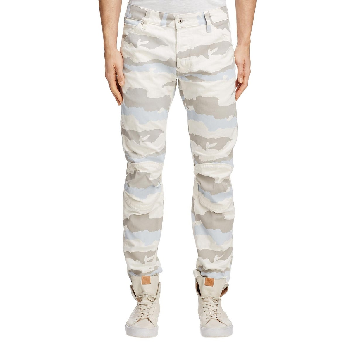 G Star Raw 5622 3D Moto Slim Jeans 34x32 in White Scatter Snow Camouflage Camo