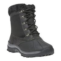 Propet Women's Blizzard Mid Lace II Boot Black Leather/Nylon