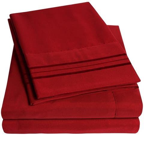 Deep Pocket Soft Microfiber 4-piece Bed Sheet Set