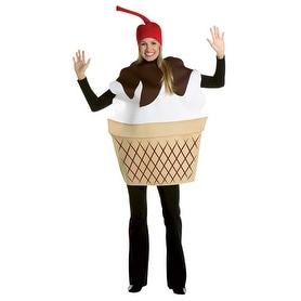 Ice Cream Sundae Dessert Adult Standard Costume - standard - one size