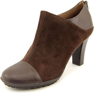 Aerosoles Commentary Women Round Toe Canvas Brown Bootie