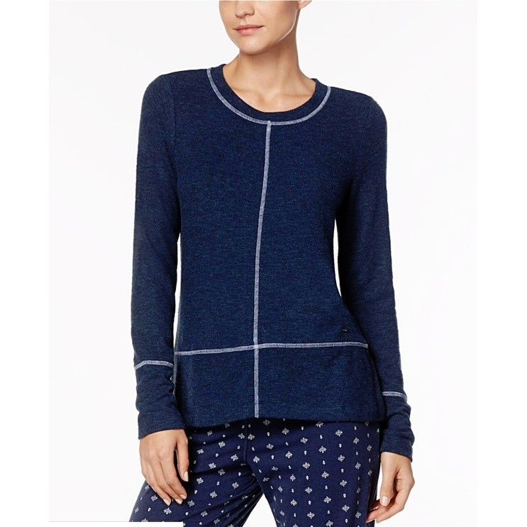 Nautica Womens Plus Size Sweater-Knit Pajama Top