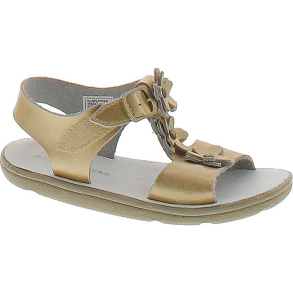Jumping Jacks Sunflower T-Strap Sandal - soft gold leather