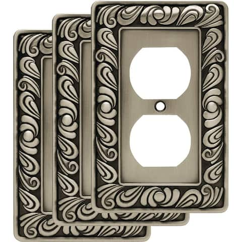 Franklin Brass W10110V-R Paisley Single Duplex Outlet Wall Plate -
