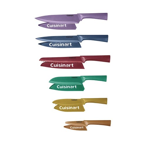Cuisinart C55-12PMC Advantage 12 Piece Metallic Knife Set With Blade Guards, Multicolor