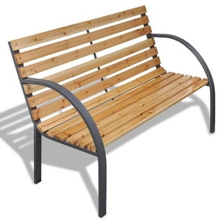 "vidaXL Garden Bench 47.2"" Wood and Iron"