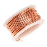 Artistic Wire, Copper Craft Wire 22 Gauge Thick, 8 Yard Spool, Bare Copper