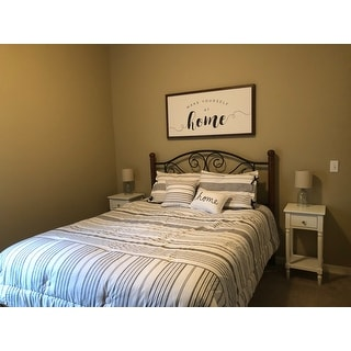 The Gray Barn Sleeping Hills Farmhouse Reversible Stripe Comforter Set