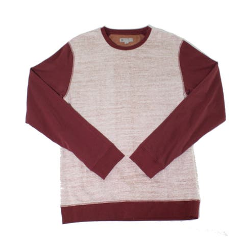 Charles and A Half Mens Sweatshirts Red White Size 2XL Space-Dyed