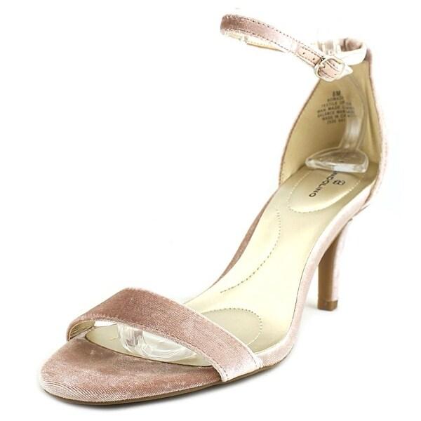 Bandolino Madia Women Open-Toe Canvas Pink Heels