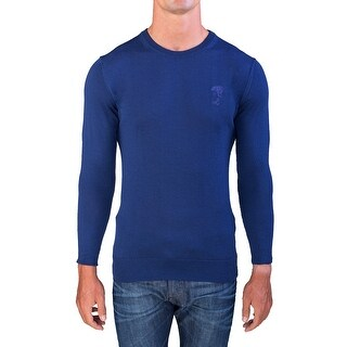 Versace Men's Medusa Head Crew Neck Sweater Dark Navy