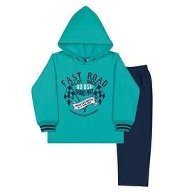 Toddler Boy Hoodie Sweater and Sweatpants Winter Set Pulla Bulla Sizes 1-3 Years