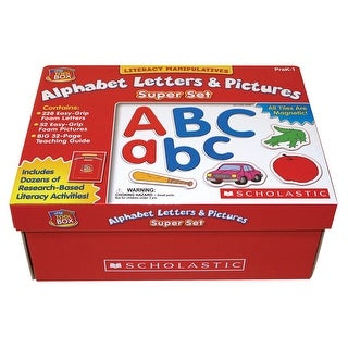 Scholastic Little Red Tool Box Alphabet Letters and Pictures Super Set