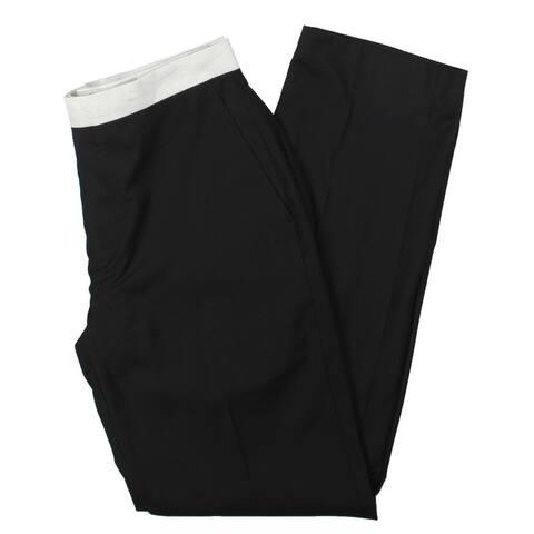 Sean John Mens Tuxedo Pant Stretch Suit Separate - Black - 32/32