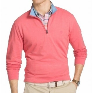 IZOD Saltwater NEW Pink Nauset Mens Size XL 1/2 Zip Pullover Sweater