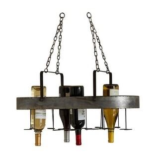 "Set of 2 Metal 19 Bottle Wine Hanging Racks 25.25"""