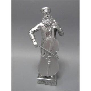 Shonfeld Crystal 15935 7 in. Fiddler Polyresin Silver