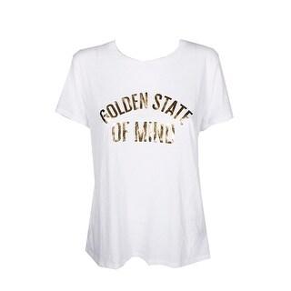 Sub Urban Riot White Golden-Graphic Loose T-Shirt M