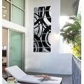 Statements2000 Black / Silver Contemporary Metal Wall Art Painting by Jon Allen - Crossroads - Thumbnail 7