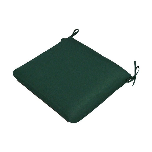 "Casual Cushion Corp 308-1455 Large Seat Pad, Forest Green, 19""X18"""