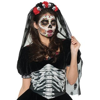 Day of the Dead Mantia Adult Costume Headband